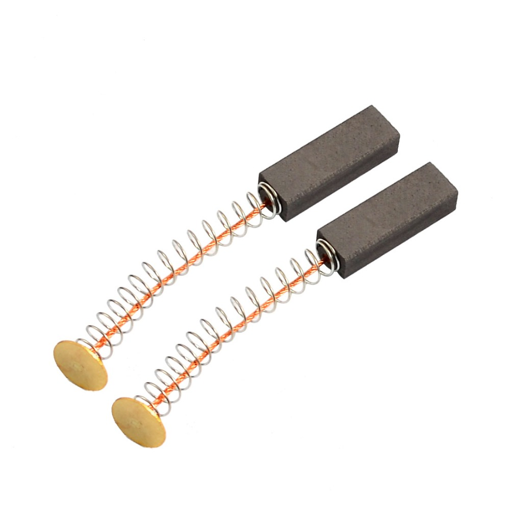 "Купить с кэшбэком UXCELL Hot Sale 2 Pcs Electric Grinder Replacement Motor Carbon Brushes 6x8x24mm Power Tool 65mm/2.55"" Length"