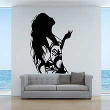Long Hair Woman Design Home Decor Wall Stickers for Kids Roo
