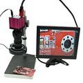 HD промышленный микроскоп камеры HDMI USB Выходы + 130X оптический C-mount объектив + LED свет + держатель + 10-дюймовый HD монитор