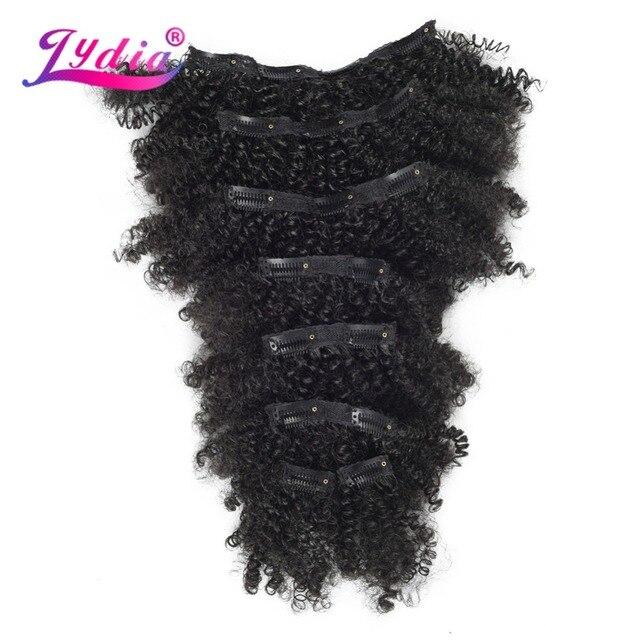 Lydia 8 sztuk/zestaw 18 klipów w treski włosów 6 Cal naturalne kręcone syntetyczne żaroodporne przedłużanie włosów wszystkie kolory są dostępne