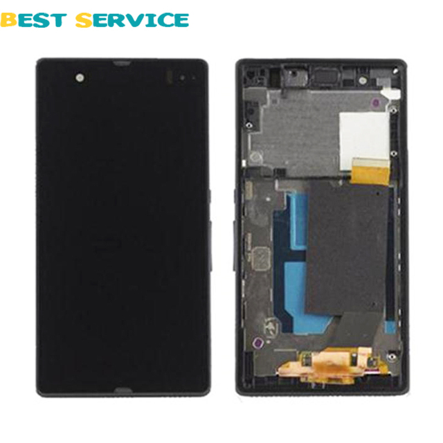 For Sony Xperia Z C6602 C6603 L36 L36h LCD Display + Touch Screen Digitizer with Empty Frame + Tools Black White Free Shipping