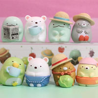 8pcs Set Kawaii Action Figure Toys Little Cute Animal Anime Figure Toy Kids Toys Dolls Brinquedos