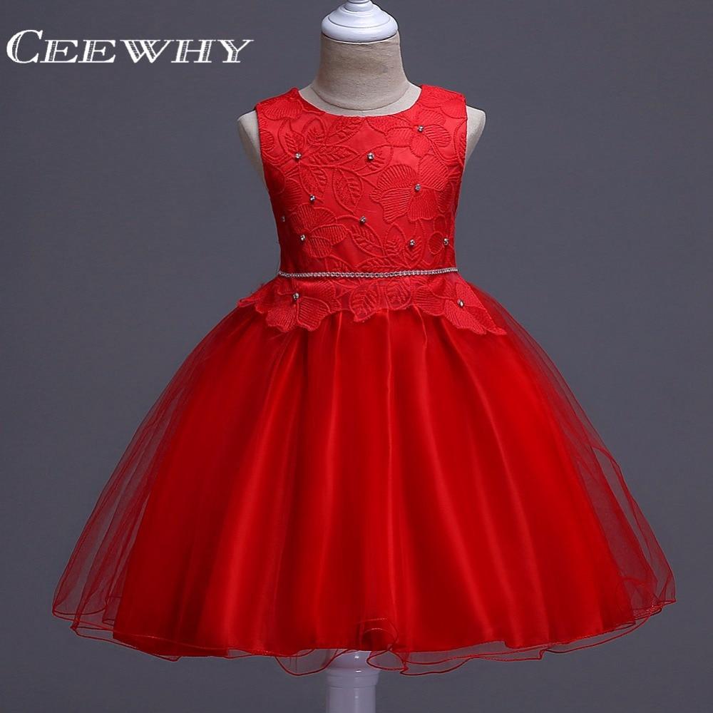 CEEWHY Crystal Beading Ball Gown Prom   Dresses   for   Girls   Sweety   Flower     Girl     Dress   Robe de Mariee Courte Communion   Dress