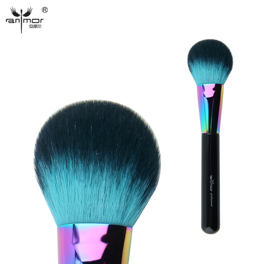 Anmor Colorful Blush Brush Synthetic Hair Professional Makeup Brushes Fluffy Head for Makeup CFCA-A05 7pcs makeup brushes professional fashion mermaid makeup brush synthetic hair eyebrow eyeliner blush cosmetic