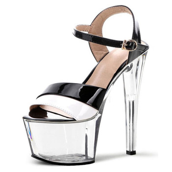women's shoes fashion sexy star shoes 17 cm high heels crystal sandals