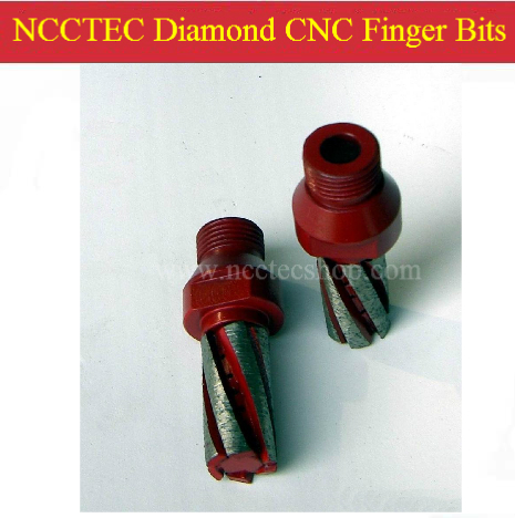 Diamond CNC Finger Router Bits 25mm (D) *50mm (L) | NCCTEC Milling Cutter End Mill CNC Cutting Tools | FREE Shipping