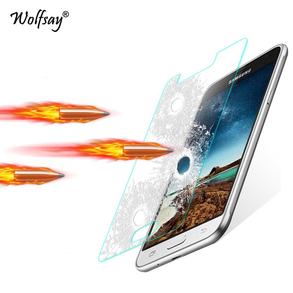 2pcs For Tempered Glass Samsung Galaxy J1 2016 Screen Protector sFor Samsung Galaxy J1 2016 J120 glass for Samsung J1 2016 Film< ...