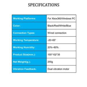 Image 5 - USB السلكية غمبد ل Xbox 360 تحكم المقود ل مايكروسوفت الكمبيوتر تحكم ل ويندوز 7/8/10
