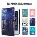 Чехол для Kindle 8-го Поколения Синтетический PU со Встроенным Магнитом Особенности Авто Пробуждения/Сна, все Новые