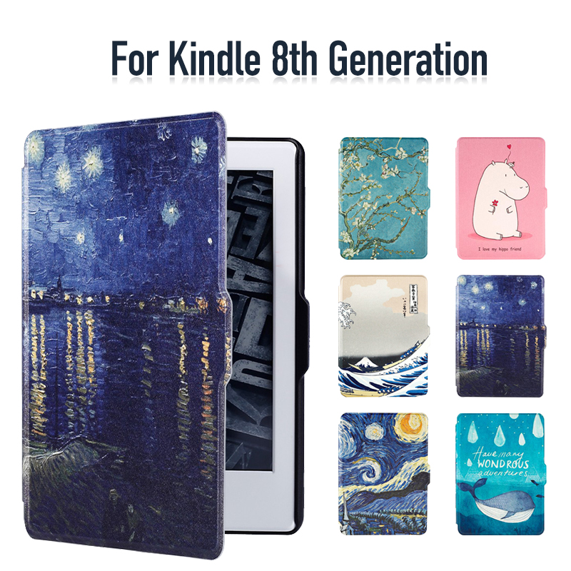 Case for Kindle 8th Generation Synthetic PU with Built-in Magnet Features Auto Wakeup/Sleep, All New