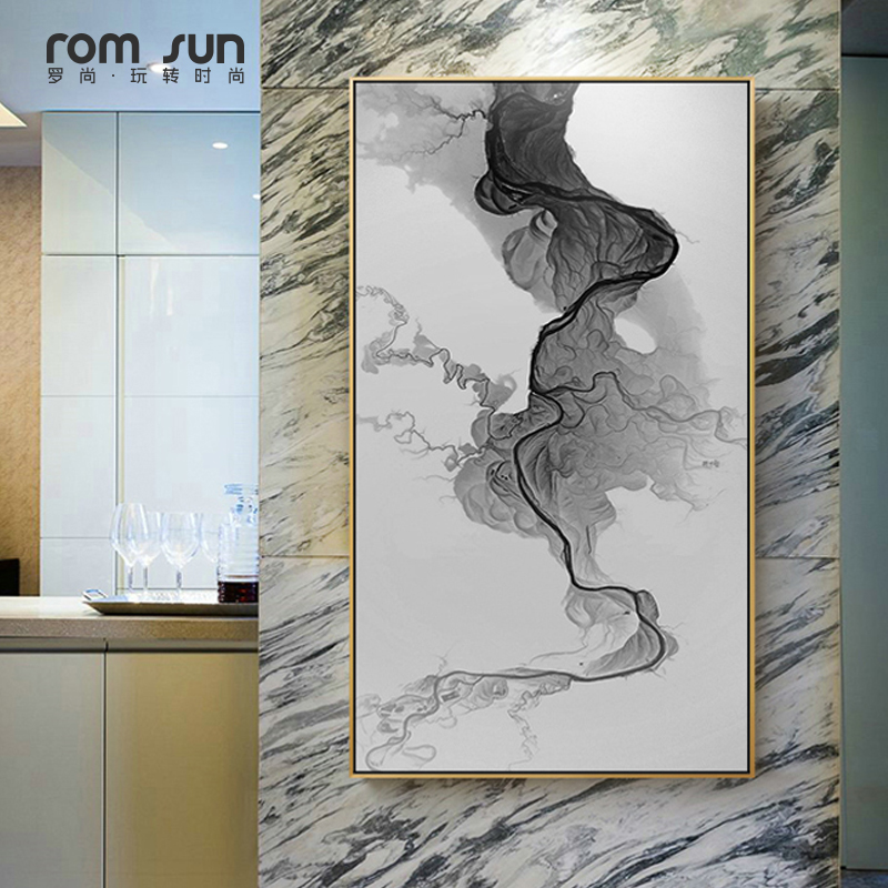 Big Canvas Art Modern Watercolor Abstract Ink Splash Big: Modern Abstract Painting Chinese Style Splash Ink Wall Art