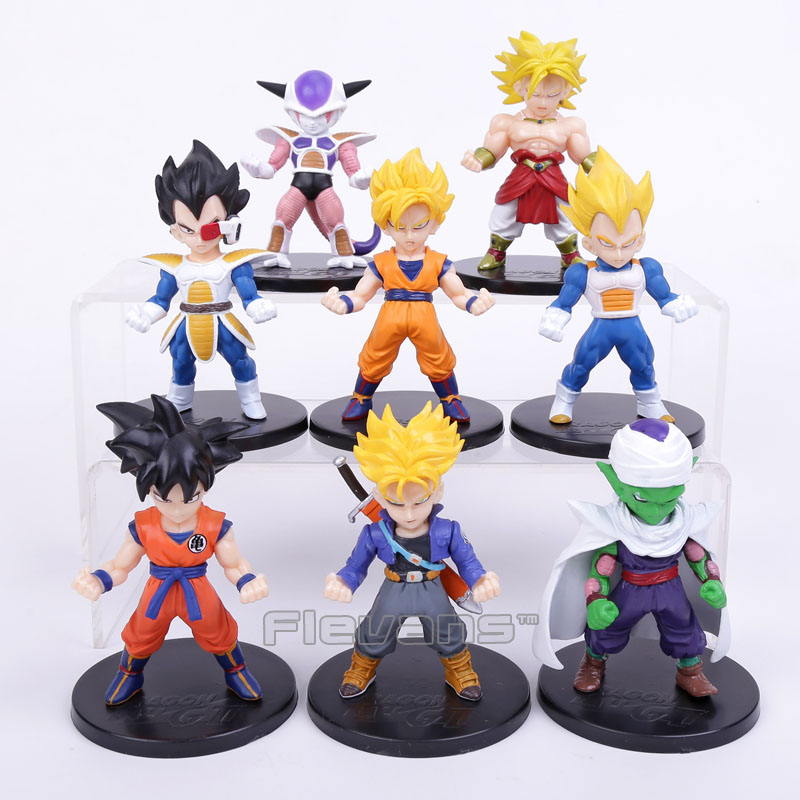 Dragon Ball Z Son Goku Trunks Vegeta Piccolo Super Saiyan PVC Figures Collectible Model Toys 8pcs/set  new goku 14cm vegeta goku trunks dragon ball z resurrection f super saiyan god comics pvc action figures toy for kids