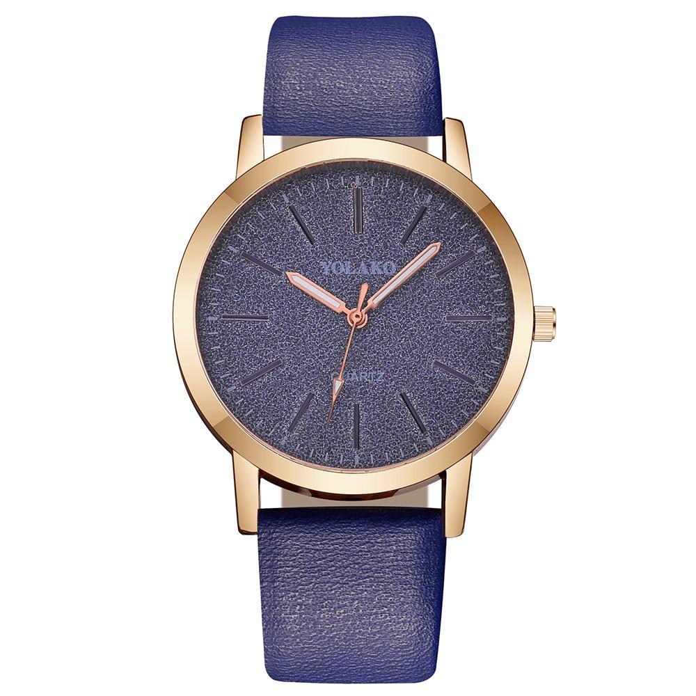 Women's Watches Top Brand Fashion Womens Ladies Simple Watches Zegarek Damsk iLeather Analog Quartz Wrist Watch clock saat Gift