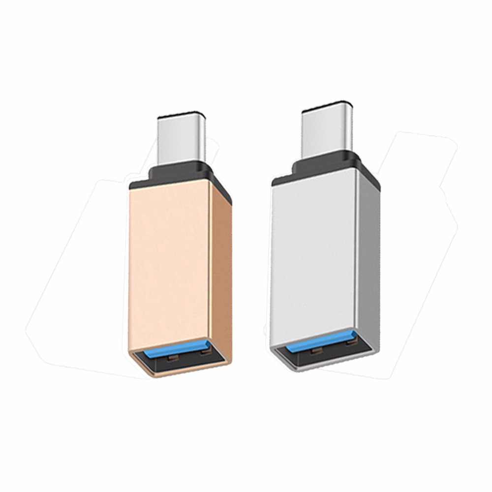 2 Pcs/lot USB 3.0 Data Sync Converter USB Tipe C Adapter OTG Aluminium Alloy Mini Converter 5 Gbps Transfer Untuk XIAOMI Macbook