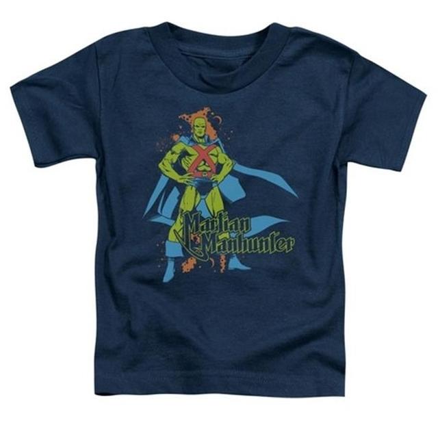 Trevco Dc-Martian Manhunter – Short Sleeve Toddler Tee – Navy Large 4T