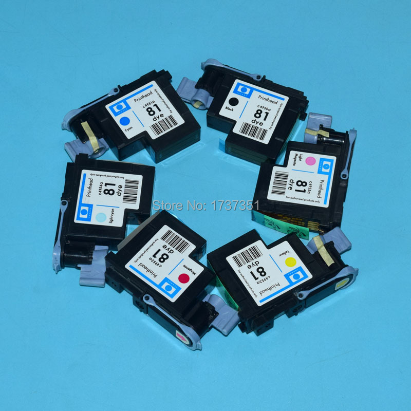 1 set reamnufactured print head for hp 81 C4950A C4951A C4952A C4953A C4954A C4955A for HP Designjet 5000 5500 printhead