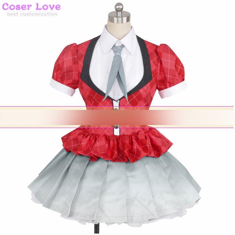 Zombie Land Saga Konno Junko coat shirt skirt Cosplay Carnaval Costume New Years Christmas Costume