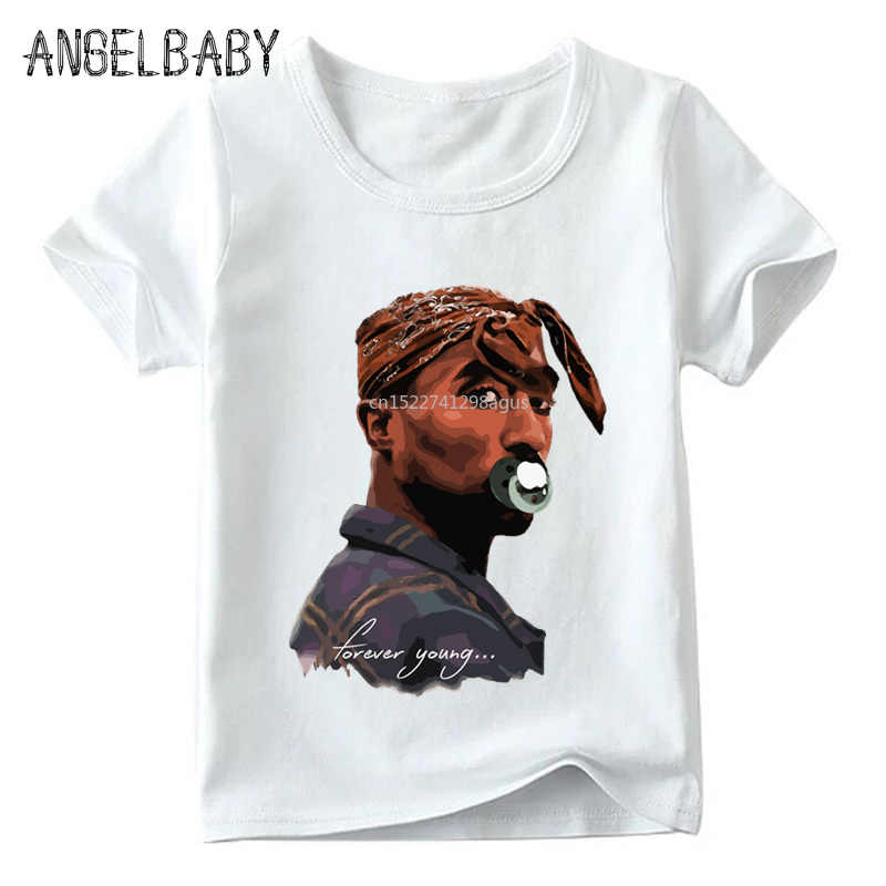 Children 2pac Hip Hop Swag Print T shirt Summer Fashion Tupac Baby  Boys/Girls Top Tee shirts Kids Casual Clothes,HKP287