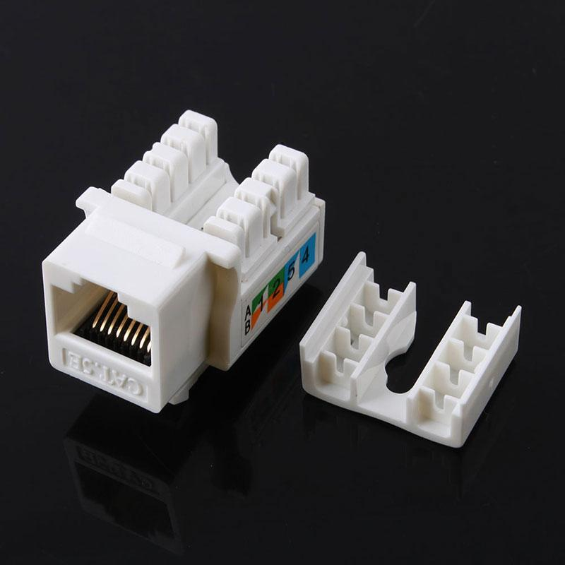 Network Cat5E 110 Punch Down Keystone Jack RJ45 CAT5 #53046
