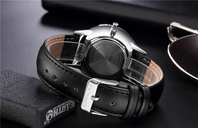 Ultra-mince montre À Quartz Hommes Bracelet En Cuir décontracté Montres Relogio Masculino CRRJU Hommes Mâle montre-Bracelet Sport montre reloj hombre