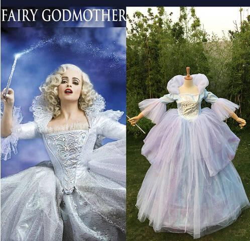 09003914e8351 Livraison gratuite Adulte Femmes Halloween Cosplay Costumes Princesse De  Noce Bleu Cendrillon Fée En Ligne Marraine