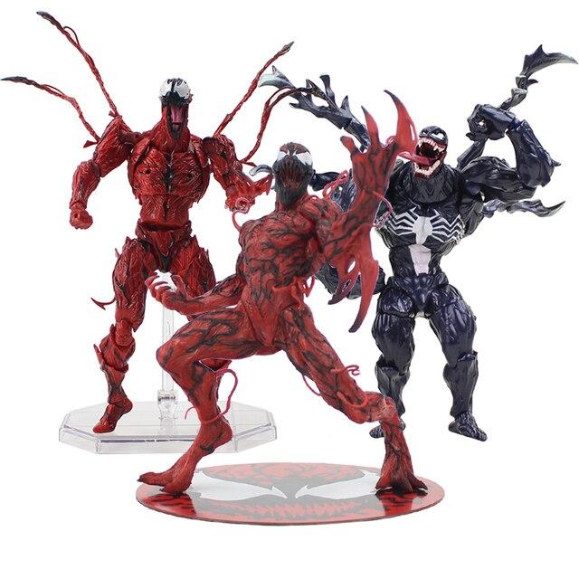 Veneno de 15-18 cm Avengers The Amazing Spiderman Carnificina Revoltech Série ARTFX 1/10 Scale Pré-Pintado PVC Ação modelo figura Toy