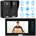 """KKmoon 7"""" TFT Color Video Door phone Intercom Doorbell System Kit IR Camera Doorphone With 2 Monitor Speakerphone Intercom"""