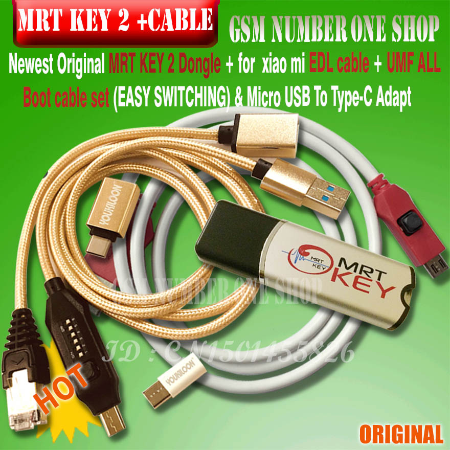 2020 NEW mrt key 2 / MRT Dongle 2 key / mrt tool2 BOX for unlock ForMeizu Flyme account or remove password from Fully activated(China)