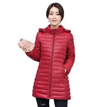Big Size 4xl Winter Women Parkas 2019 New Ultra Light Duck Down Jackets Preppy Stylish Student Portable Overcoat Puffer Jacket