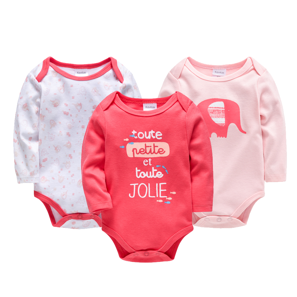 Kavkas 3pcs/Set Thick Cotton Baby   Rompers   Winter Long Sleeve Baby Girl Infant Jumpsuit Newborn Baby Girls Clothes Infantil