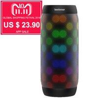 HOT lewinner colorful Waterproof Bluetooth Speaker Wireless NFC Super Bass Subwoofer Outdoor Sport Sound Box FM Portable Speaker