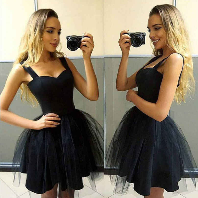 a4cc5c6d39 New 2018 Fashion Women Casual Sleeveless Strap Tutu Dress Evening Party  Dress Short Mini Dress