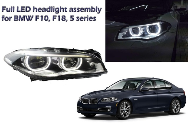 For Bmw F10 F18 5 Series Full Led Headlight Assembly With Light