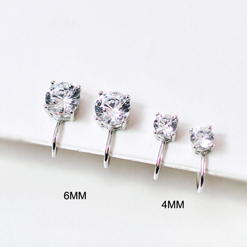 Top Quality AAA Cezch Zircon Silver Filled Tragus Non Piercing Clip Earring 5
