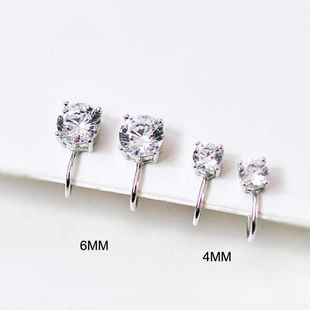 Top Quality 6MM AAA Cezch Zircon Chic Filled Tragus Earring For Women Non Piercing Clip Earring.jpg 640x640 - Top Quality 6MM AAA Cezch Zircon Chic Filled Tragus Earring For Women Non Piercing Clip Earring Punk Ear Cuff 2018 Brincos