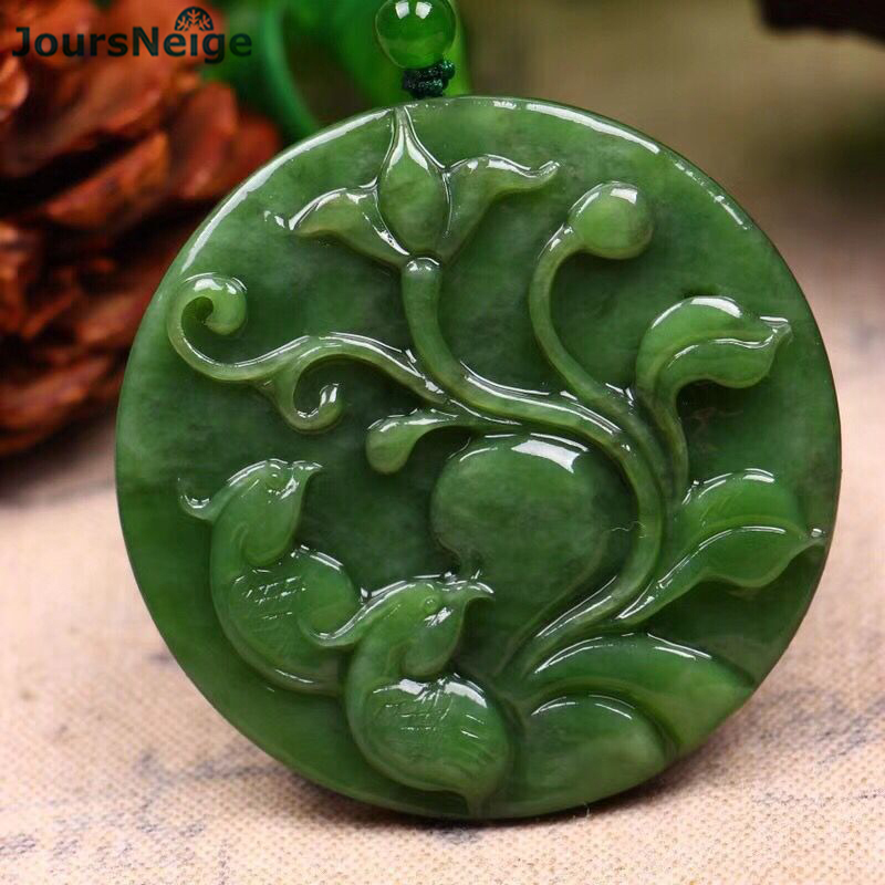 Wholesale Fine Green Natural Stone Pendants Magpies Pendant Necklace Lucky For Women Bead Sweater Chain Necklace Fashion Jewelry fashionable women s bead designed ellipse sweater chain necklace