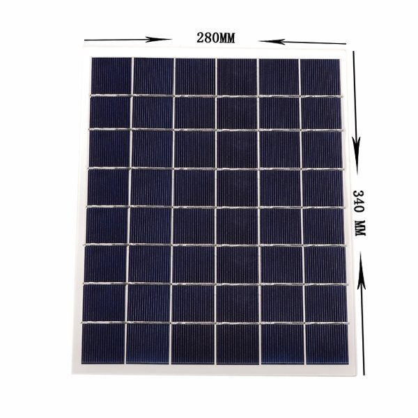 New 1 PCS 12V 12W Solar Panel Power Cell Charger 12784