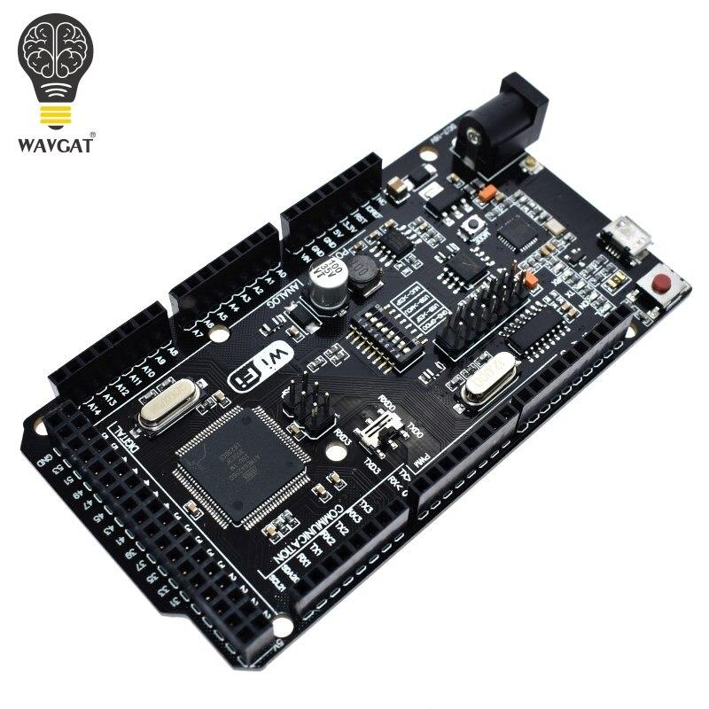 WAVGAT Mega2560 + WiFi R3 CH340G USB-TTL ATmega2560 + ESP8266 32 Mb de memória. Compatível com Arduino Mega NodeMCU Para WeMos ESP8266