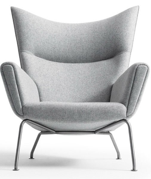 Hans J Wegner Style CH445 Wing Chair