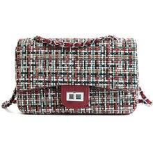 5268999f2b84 Осенняя модная новая брендовая дизайнерская шерстяная женская сумка-мессенджер  Ретро Женская шерстяная сумка через плечо