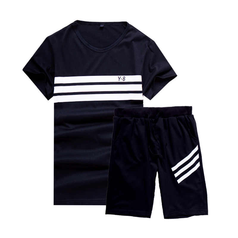 910d0f99781a ... Tracksuit Men Brand 4XL New Men s Short Sleeve Sportwear Suit Summer  Designer Printing Cool Casual Short