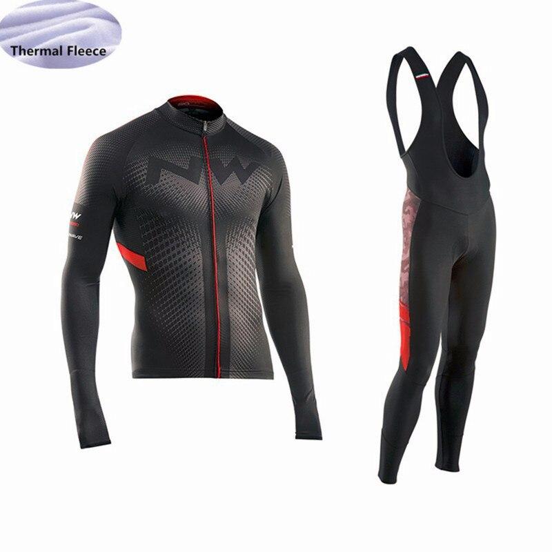 Triathlon 2018 nova NW Camisa de Ciclismo Homens Inverno Térmica Velo bicicleta  Desgaste Top Roupas de bf401ba68f774