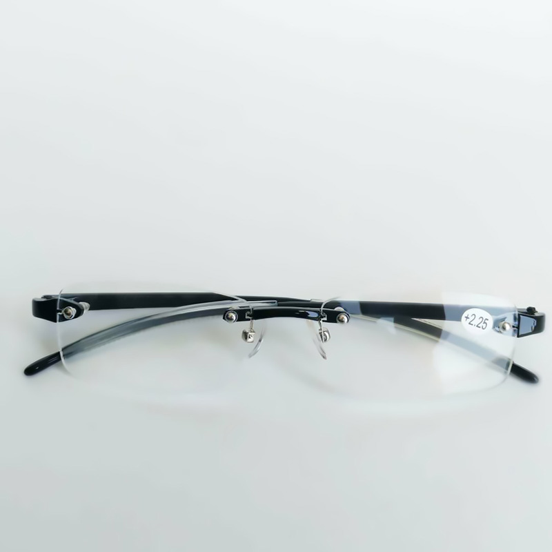 Coyee TR90 Reading Glasses Unisex Rimless Reader Black +0.5 +0.75 +1 +1.25 +1.5 +1.75 +2 +2.25 +2.5 +2.75 +3 +3.25 +3.5 +3.75 +4 ...