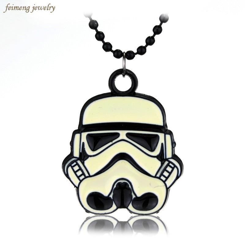 Movie Star Wars Stormtrooper Metal Alloy Necklace Pendant Fashion Clone Trooper Darth Vader Logo Necklaces For Women & Men