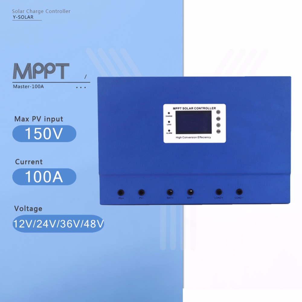 Master-100A MPPT Solar Panel Battery Charge Controller 12V 24V 36V 48V Auto PV Regulator with Self-cooling and High Intelligent high quality 12v 24v 48v auto 60a mppt solar charge controller