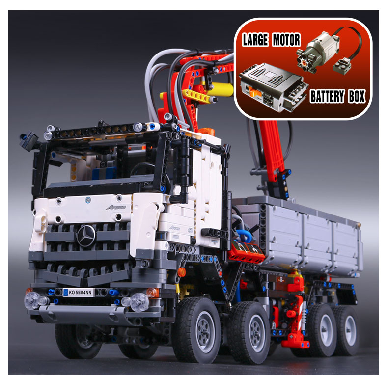LEPIN 20005 Technology series big truck heavy truck 3245PCS Arocs Puzzle Brick Toys Compatible with 42023 Boys Toy Gift lepin 20005 2793pcs technic series model building block bricks compatible with boys toy gift compatible legoed 42023