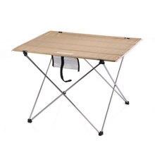 Masa dış mekan mobilyası boyutu S L masası Modern mobilya Al alaşım Oxford kumaş Minimalist masa haki siyah dikdörtgen masa
