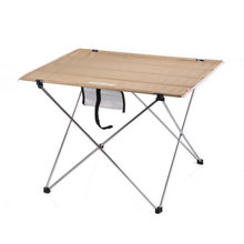Table mobilier dextérieur taille S L bureau mobilier moderne Al alliage Oxford tissu Tables minimalistes kaki noir Table Rectangle