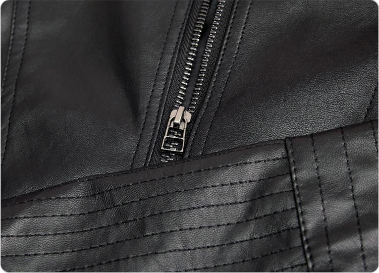 Cuir Noir De Hiver En S Style Court Pu Veste 5xl Femmes Automne Moto Mode 2018 O Manteau Black cou Slim z7qFPPx