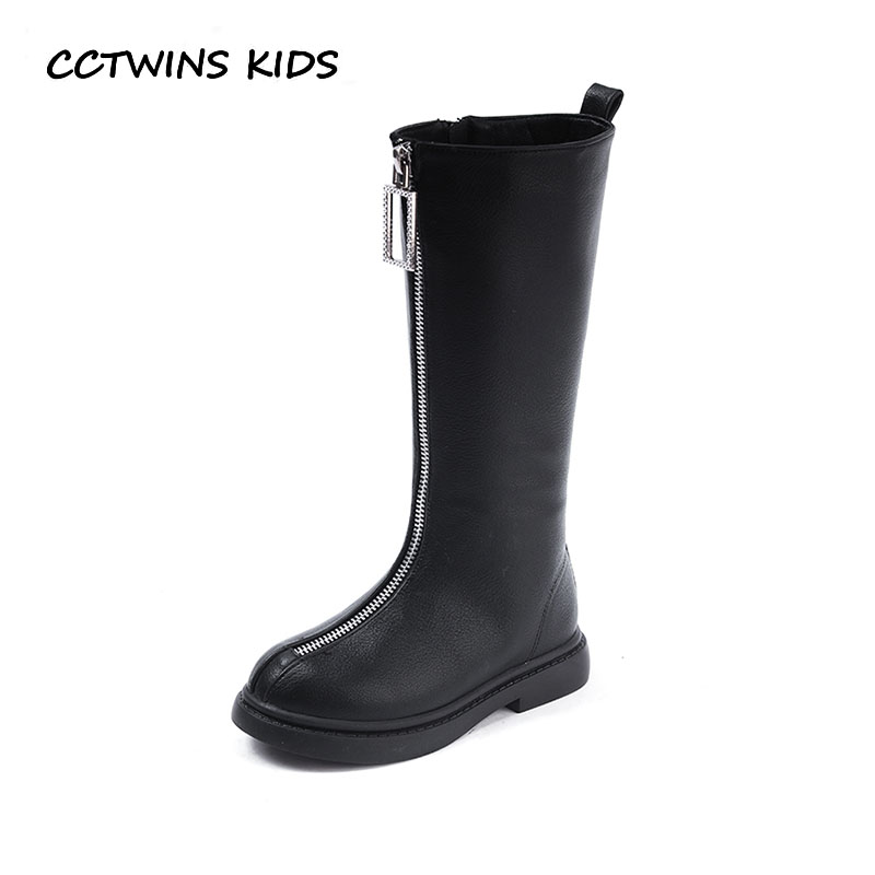 CCTWINS KIDS 2018 Winter Girl Black Knee High Boot Baby Fashion Princess Warm Shoe Children Pu Leather Boot C1153CCTWINS KIDS 2018 Winter Girl Black Knee High Boot Baby Fashion Princess Warm Shoe Children Pu Leather Boot C1153